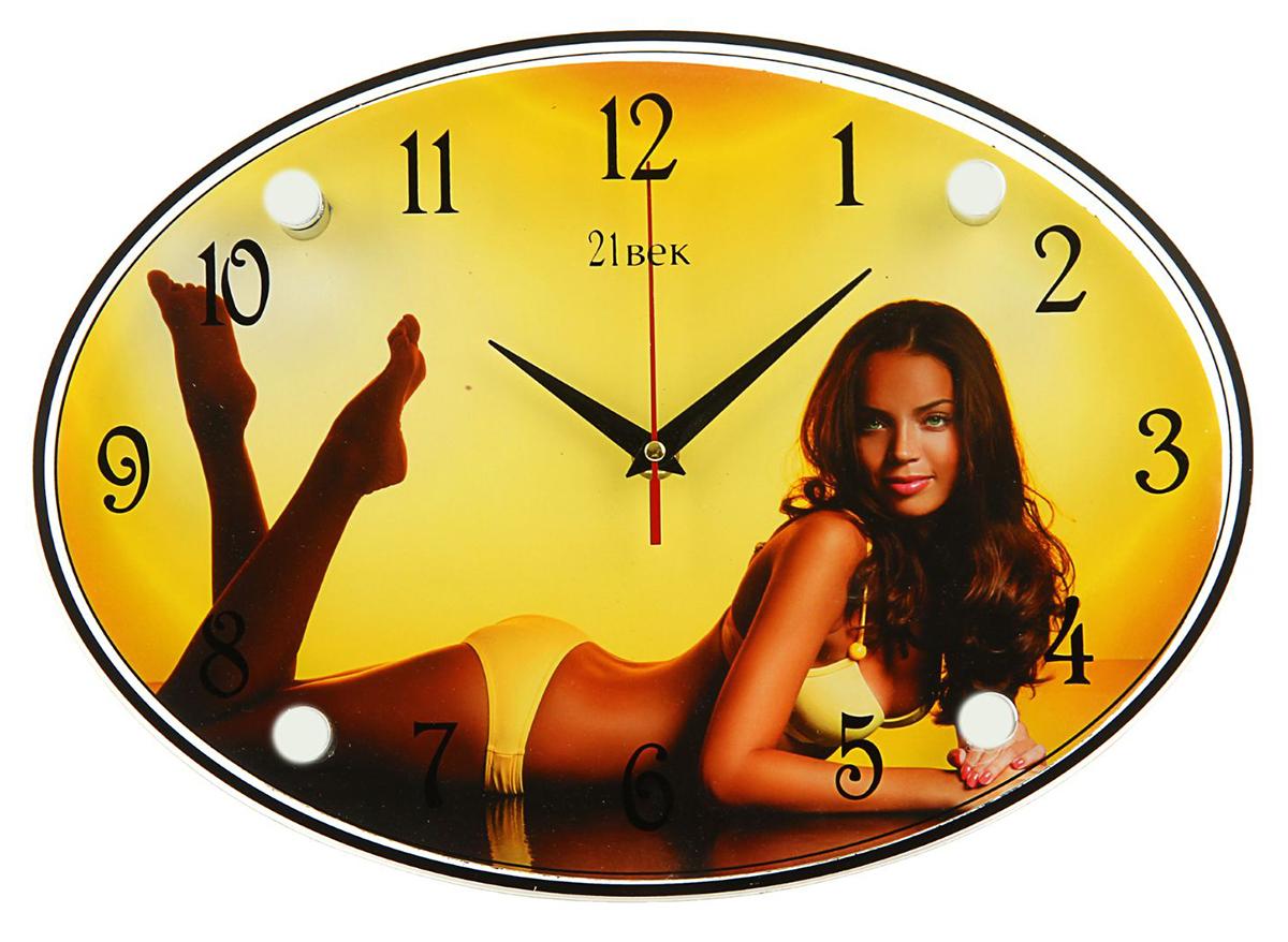 Часы настенные овальные 21 Век Девушка в желтом купальнике, 24 х 34 см1186166Каждому хозяину периодически приходит мысль обновить свою квартиру, сделать ремонт, перестановку или кардинально поменять внешний вид каждой комнаты. — привлекательная деталь, которая поможет воплотить вашу интерьерную идею, создать неповторимую атмосферу в вашем доме. Окружите себя приятными мелочами, пусть они радуют глаз и дарят гармонию.— сувенир в полном смысле этого слова. И главная его задача — хранить воспоминание о месте, где вы побывали, или о том человеке, который подарил данный предмет. Преподнесите эту вещь своему другу, и она станет достойным украшением его дома.Часы настенные овальные Девушка в желтом купальнике, 24х34 см 1186166