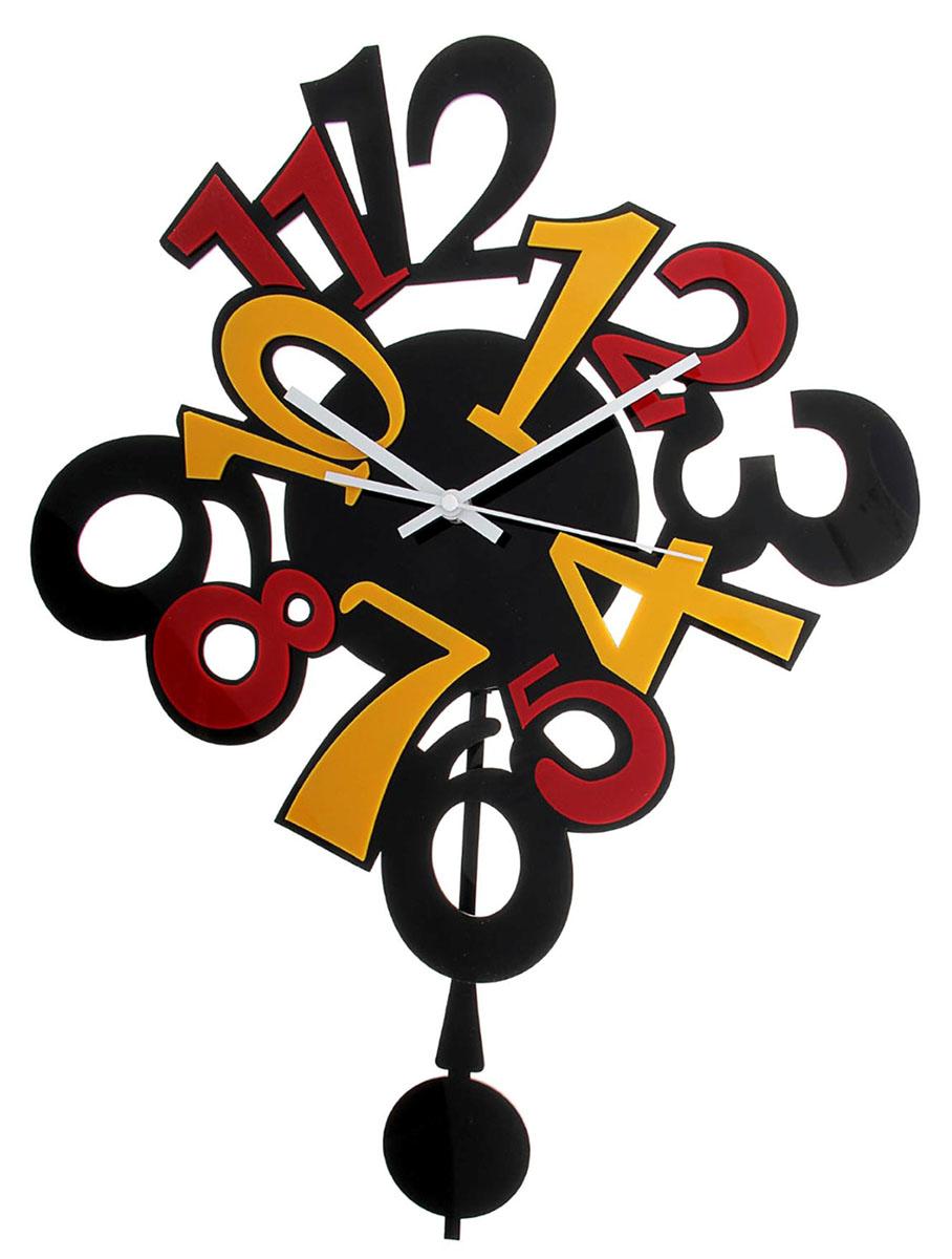 Часы настенные Акрил. Разноцветные цифры, 30 х 60 см118704Каждому хозяину периодически приходит мысль обновить свою квартиру, сделать ремонт, перестановку или кардинально поменять внешний вид каждой комнаты. Часы настенные интерьерные Серия Акрил. Разноцветные цифры с маятником — привлекательная деталь, которая поможет воплотить вашу интерьерную идею, создать неповторимую атмосферу в вашем доме. Окружите себя приятными мелочами, пусть они радуют глаз и дарят гармонию.Часы настенные серия Акрил Разноцветные цифры с маятником 30*60см 118704