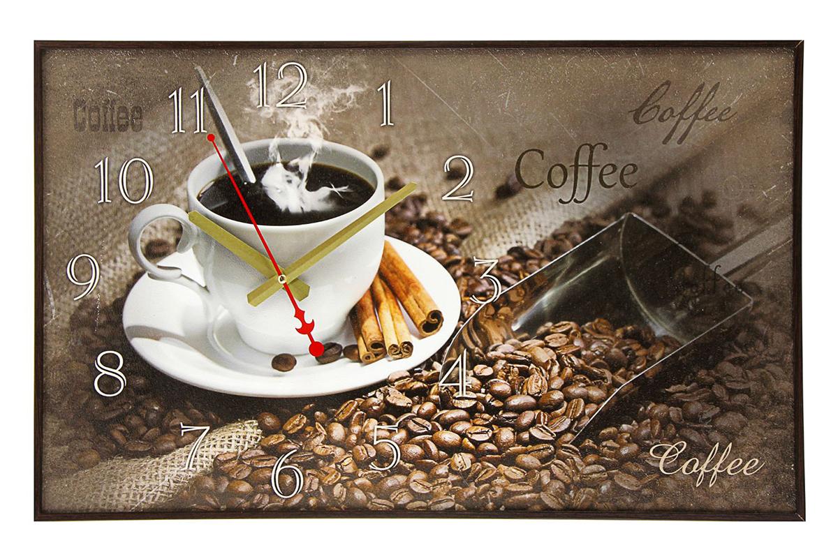 Часы настенные на холсте TimeBox Coffee, 37 х 60 см1192859Каждому хозяину периодически приходит мысль обновить свою квартиру, сделать ремонт, перестановку или кардинально поменять внешний вид каждой комнаты. — привлекательная деталь, которая поможет воплотить вашу интерьерную идею, создать неповторимую атмосферу в вашем доме. Окружите себя приятными мелочами, пусть они радуют глаз и дарят гармонию.Часы на хосте Coffee, 37х60 см 1192859
