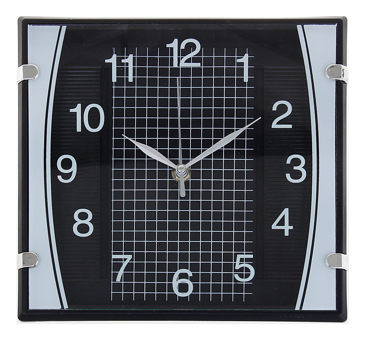 Часы настенные Black. Клетка, 23 х 23 см. 11950591195059Каждому хозяину периодически приходит мысль обновить свою квартиру, сделать ремонт, перестановку или кардинально поменять внешний вид каждой комнаты. Часы настенные квадратные Серия Black. Checkered, черные, циферблат клетка на черном фоне — привлекательная деталь, которая поможет воплотить вашу интерьерную идею, создать неповторимую атмосферу в вашем доме. Окружите себя приятными мелочами, пусть они радуют глаз и дарят гармонию.Часы настенные серия Black, квадрат, черные, циферблат клетка на черном фоне 23х23см 1195059