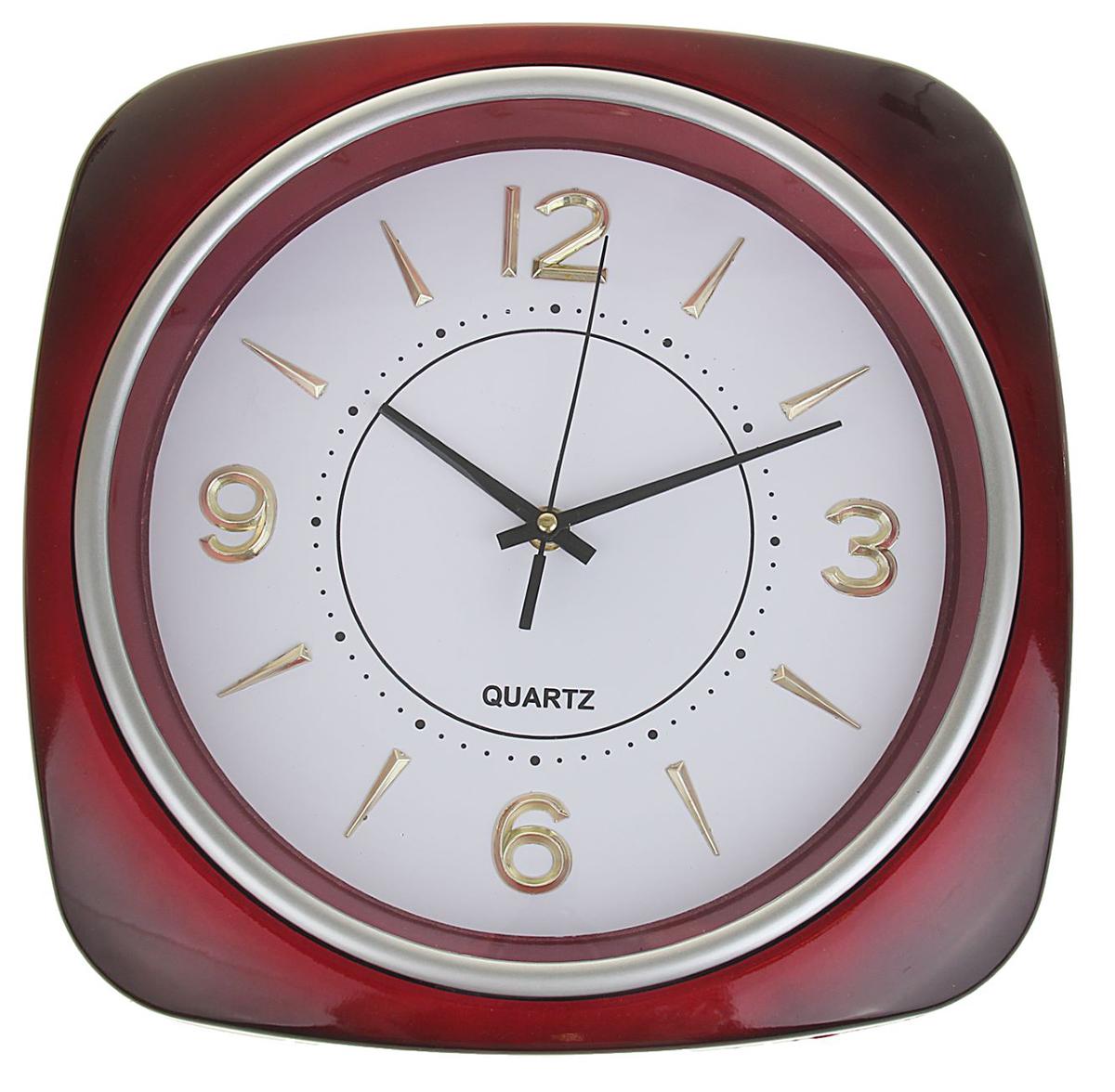 Часы настенные, цвет: бордо, хром, белый, 31 х 31 см troyka часы настенные troyka 31 см
