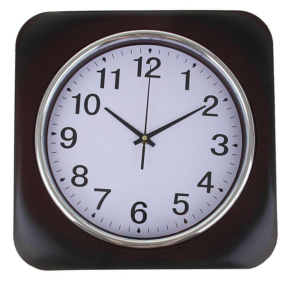 Часы настенные, цвет: черный, белый, 32 х 32 см1251150Каждому хозяину периодически приходит мысль обновить свою квартиру, сделать ремонт, перестановку или кардинально поменять внешний вид каждой комнаты. Часы настенные Daily, квадратные с закругленными углами, 32 ? 32 см, рама черная, циферблат белый — привлекательная деталь, которая поможет воплотить вашу интерьерную идею, создать неповторимую атмосферу в вашем доме. Окружите себя приятными мелочами, пусть они радуют глаз и дарят гармонию.Часы настенные квадрат с круг углами, рама черная, циферблат белый круг 32х32см 1251150