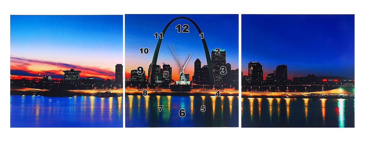 Часы-картина настенные Берег ночного города, 40 х 40 см127126Каждому хозяину периодически приходит мысль обновить свою квартиру, сделать ремонт, перестановку или кардинально поменять внешний вид каждой комнаты. Настенные часы-картина 3 в 1 Берег ночного города, 30 ? 30 см — привлекательная деталь, которая поможет воплотить вашу интерьерную идею, создать неповторимую атмосферу в вашем доме. Окружите себя приятными мелочами, пусть они радуют глаз и дарят гармонию.Часы настенные картина 3в1 Берег ночного города 40х40 127126