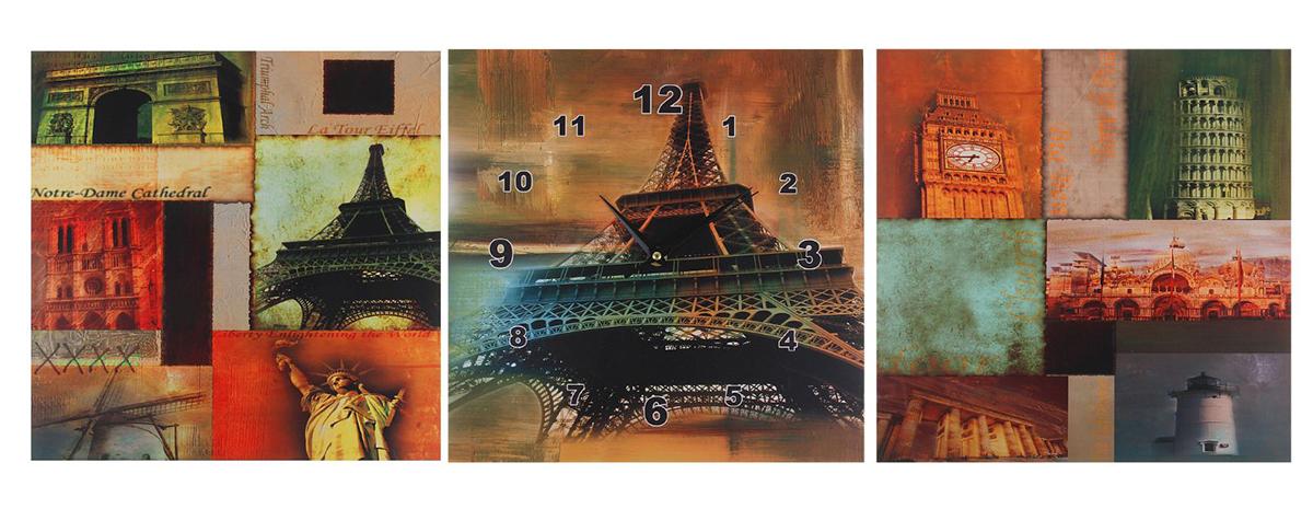 Часы-картина настенные Пейзажи Франции, 30 х 30 см картины в квартиру картина попугай 42х52 см
