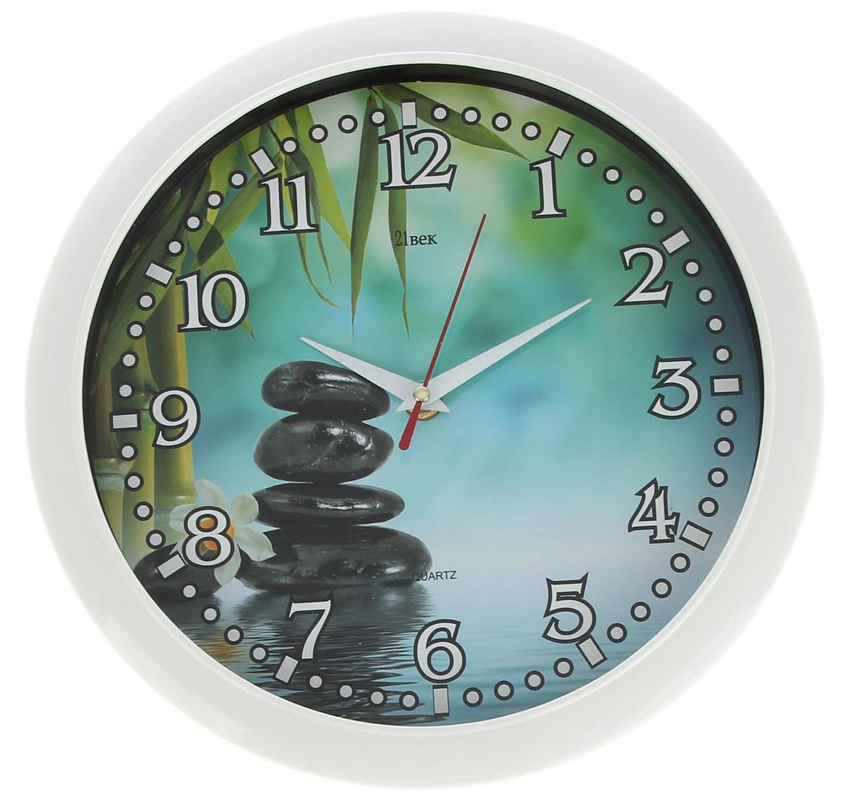 Часы настенные 21 Век Гальки, диаметр 30 см1275325— сувенир в полном смысле этого слова. И главная его задача — хранить воспоминание о месте, где вы побывали, или о том человеке, который подарил данный предмет. Преподнесите эту вещь своему другу, и она станет достойным украшением его дома. Каждому хозяину периодически приходит мысль обновить свою квартиру, сделать ремонт, перестановку или кардинально поменять внешний вид каждой комнаты. — привлекательная деталь, которая поможет воплотить вашу интерьерную идею, создать неповторимую атмосферу в вашем доме. Окружите себя приятными мелочами, пусть они радуют глаз и дарят гармонию.Часы настенные круглые Гальки, белое кольцо, 30 см 1275325