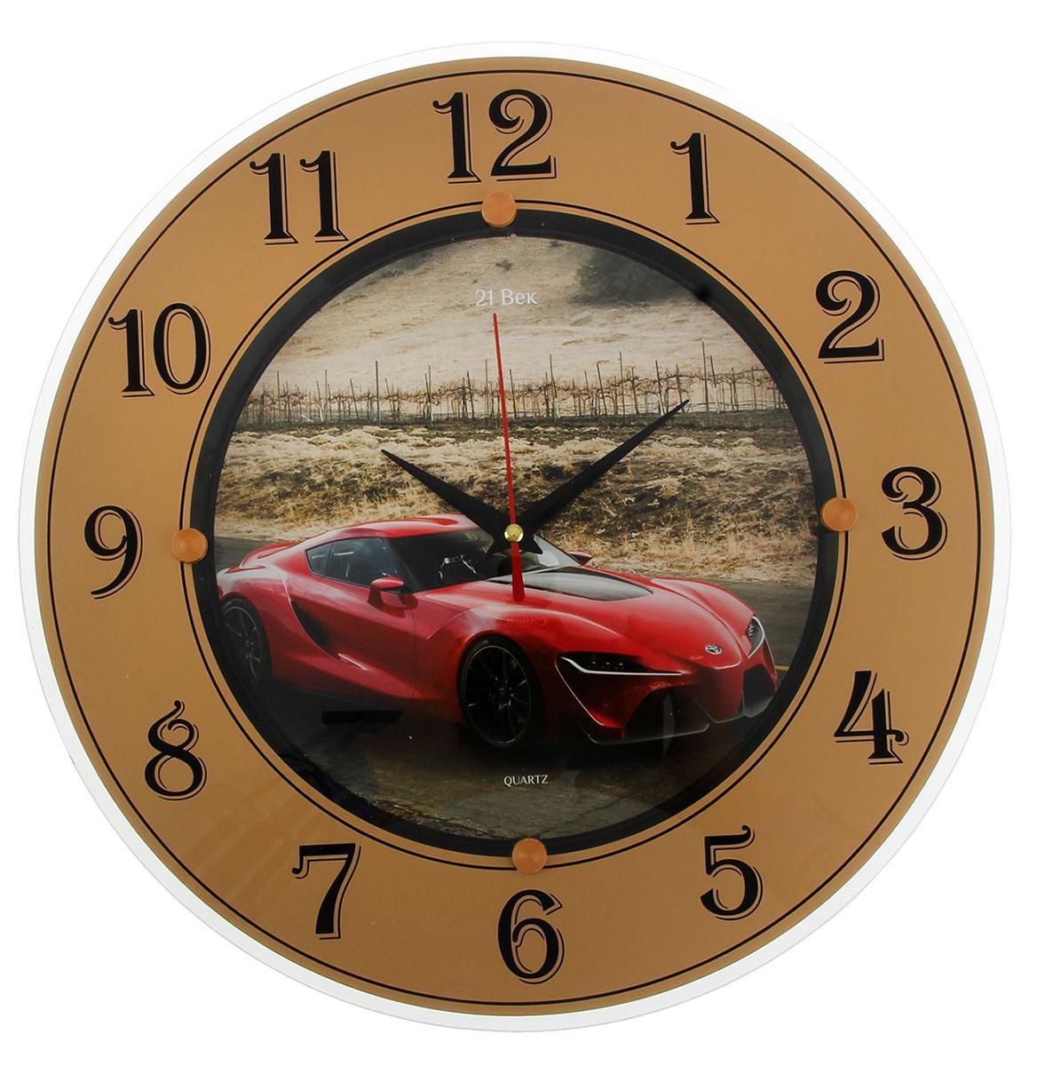 Часы настенные 21 Век Красный спорткар, диаметр 32 см1294753— сувенир в полном смысле этого слова. И главная его задача — хранить воспоминание о месте, где вы побывали, или о том человеке, который подарил данный предмет. Преподнесите эту вещь своему другу, и она станет достойным украшением его дома. Каждому хозяину периодически приходит мысль обновить свою квартиру, сделать ремонт, перестановку или кардинально поменять внешний вид каждой комнаты. — привлекательная деталь, которая поможет воплотить вашу интерьерную идею, создать неповторимую атмосферу в вашем доме. Окружите себя приятными мелочами, пусть они радуют глаз и дарят гармонию.Часы стеклянные круглые Красный спорткар, цифры на кольце, 32х32 см 1294753