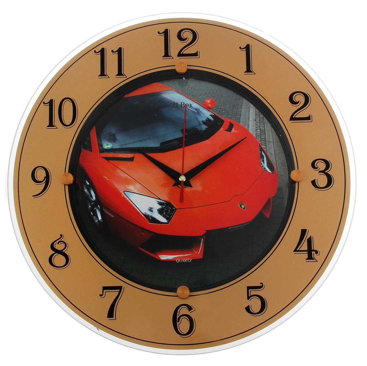 Часы настенные 21 Век Ламборджини, диаметр 32 см ламборджини авентадор купить в россии