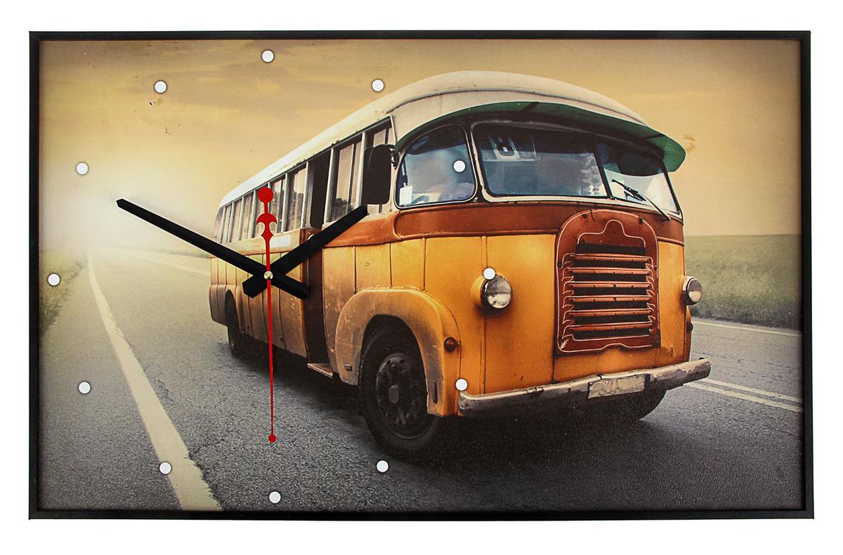 Часы настенные на холсте TimeBox Старый автобус, 37 х 60 см проездные на автобус где в москве