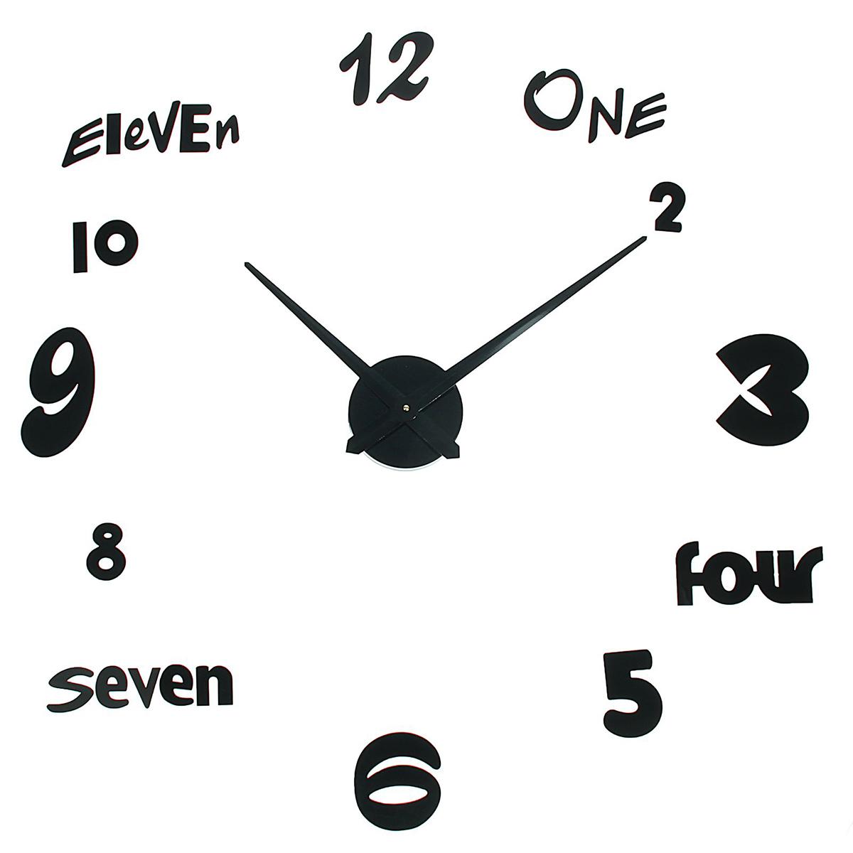 """Часы-наклейки продолжают завоевывать популярность по всему миру. Их используют вместо картин, постеров или рамок для фото. Такой элемент декора впишется в любой интерьер и преобразит комнату за считанные минуты. Преимущества При желании размеры изделия можно изменить в большую или меньшую сторону. Все элементы легко наклеиваются и снимаются. Подходят для любых ровных поверхностей (стен, потолков, кафеля, стекла, мебели). Характеристики Механизм работает от одной батарейки АА (не входит в комплект). Легкая основа для цифр надежно крепится. Размеры стрелок Минутная: 38,8 см. Часовая: 37,5 см. Создавайте часы в собственном стиле, проявляйте изобретательность и креативность. Не обязательно располагать числа по кругу — придайте аксессуару необычную форму, поменяйте диаметр циферблата, используйте не все элементы. Комплектующие легко клеятся на стену и без труда снимаются, поэтому смело воплощайте идеи в жизнь! У вас всегда будет возможность отсоединить детали и сделать все заново.Часы-наклейка DIY """"Объём модерн"""", черные, 120см 1306704"""