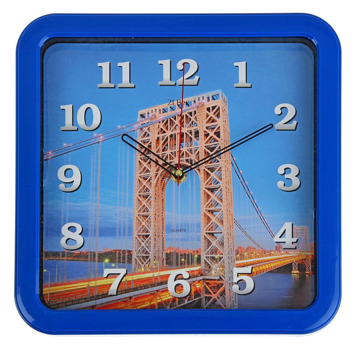 Часы настенные 21 Век Мост, 30 х 30 см1336584Каждому хозяину периодически приходит мысль обновить свою квартиру, сделать ремонт, перестановку или кардинально поменять внешний вид каждой комнаты. — привлекательная деталь, которая поможет воплотить вашу интерьерную идею, создать неповторимую атмосферу в вашем доме. Окружите себя приятными мелочами, пусть они радуют глаз и дарят гармонию.— сувенир в полном смысле этого слова. И главная его задача — хранить воспоминание о месте, где вы побывали, или о том человеке, который подарил данный предмет. Преподнесите эту вещь своему другу, и она станет достойным украшением его дома.Часы настенные квадратные Мост, 30х30 см 1336584