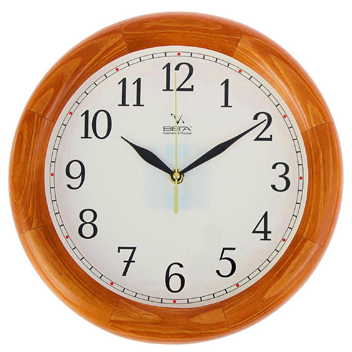 Часы настенные Вега Классика. 13799231379923— сувенир в полном смысле этого слова. И главная его задача — хранить воспоминание о месте, где вы побывали, или о том человеке, который подарил данный предмет. Преподнесите эту вещь своему другу, и она станет достойным украшением его дома. Каждому хозяину периодически приходит мысль обновить свою квартиру, сделать ремонт, перестановку или кардинально поменять внешний вид каждой комнаты. — привлекательная деталь, которая поможет воплотить вашу интерьерную идею, создать неповторимую атмосферу в вашем доме. Окружите себя приятными мелочами, пусть они радуют глаз и дарят гармонию.Часы деревянные Классика 1379923