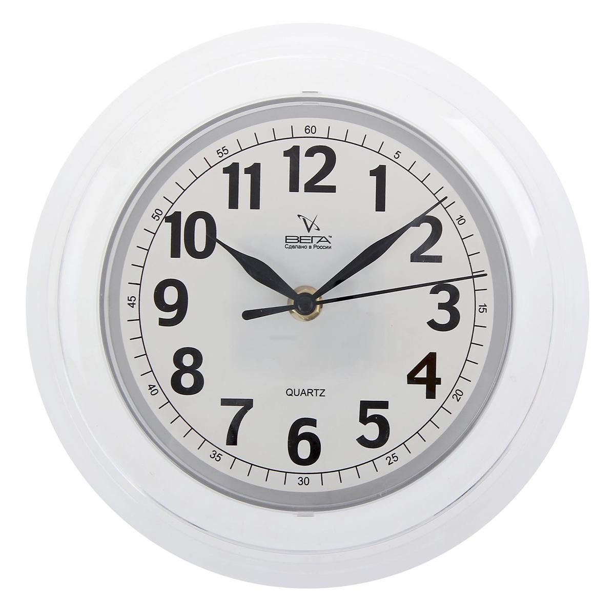 Часы настенные Вега Классика белая1379988Часы настенные круглые Классика. Мария, белые — сувенир в полном смысле этого слова. И главная его задача — хранить воспоминание о месте, где вы побывали, или о том человеке, который подарил данный предмет. Преподнесите эту вещь своему другу, и она станет достойным украшением его дома. Каждому хозяину периодически приходит мысль обновить свою квартиру, сделать ремонт, перестановку или кардинально поменять внешний вид каждой комнаты. Часы настенные круглые Классика. Мария, белые — привлекательная деталь, которая поможет воплотить вашу интерьерную идею, создать неповторимую атмосферу в вашем доме. Окружите себя приятными мелочами, пусть они радуют глаз и дарят гармонию.Часы настенные Классика белая, 1379988