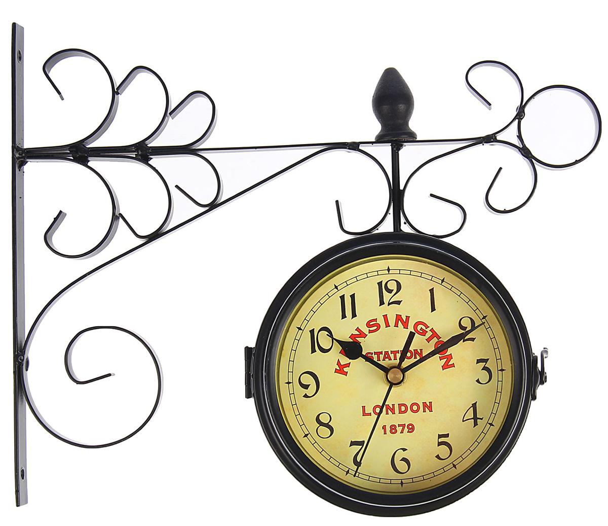 Часы настенные двойные Kinsington station, 24 х 30 см yihua 898d led digital 700w lead free smd desoldering soldering station hot air soldering station