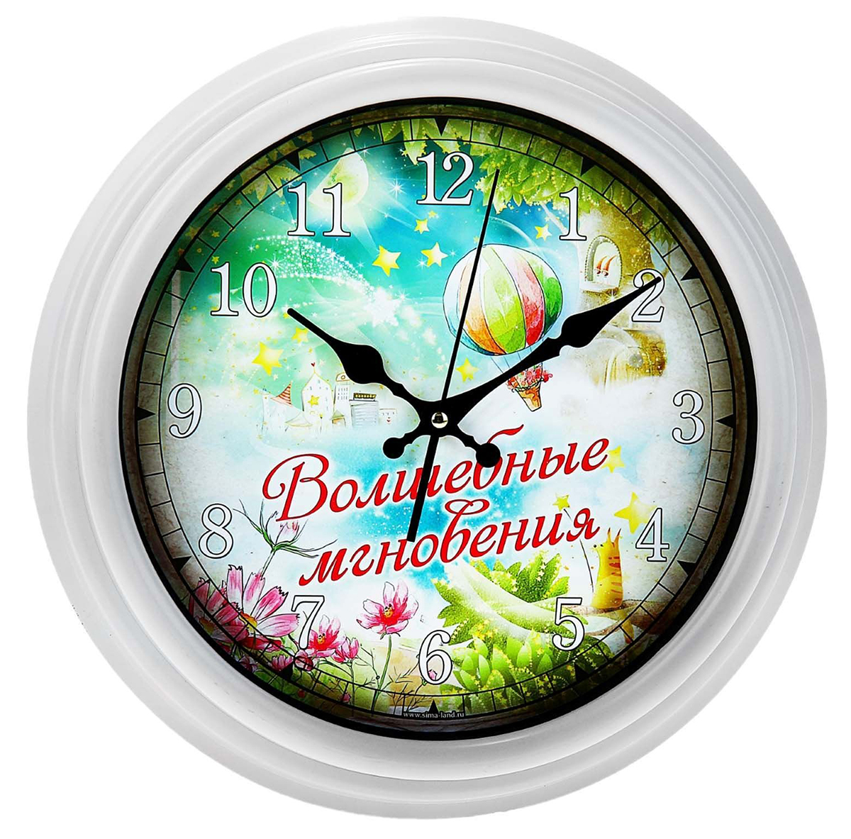 """Часы, кроме того что отслеживают время, являются наиболее популярным решением в создании домашнего уюта и задают определенный тон помещению. Часы интерьерные настенные """"Волшебные мгновения"""" сделают интерьер более насыщенным и выразительным. Подчеркнуть всю элегантность гостиной комнаты или же привнести немного нежности в спальню, – все это можно осуществить, просто повесив их на стену. Часы имеют диаметр 32 см и работают от батареек типа АА (в комплект не входят).Часы интерьерные настенные """"Волшебные мгновения"""", 28 см 150165"""