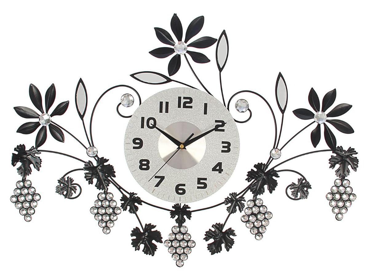 Часы настенные Ажур. Виноградные гроздья и цветы, 50 х 70 см стейнбек джон гроздья гнева роман