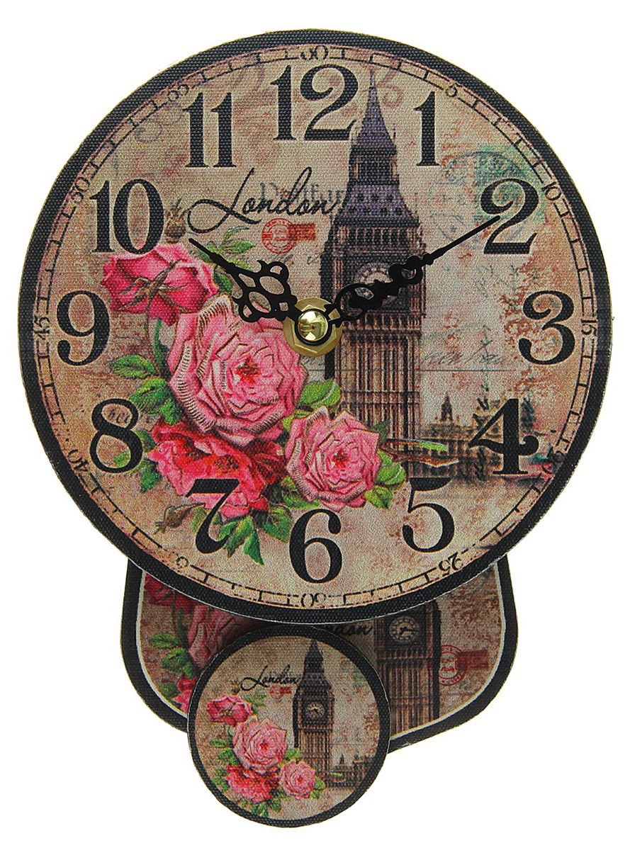 Часы настенные London, с маятником, диаметр 14 см1586515Каждому хозяину периодически приходит мысль обновить свою квартиру, сделать ремонт, перестановку или кардинально поменять внешний вид каждой комнаты. — привлекательная деталь, которая поможет воплотить вашу интерьерную идею, создать неповторимую атмосферу в вашем доме. Окружите себя приятными мелочами, пусть они радуют глаз и дарят гармонию.часы настенные круг с маятником на циферблате London d=14см 1586515