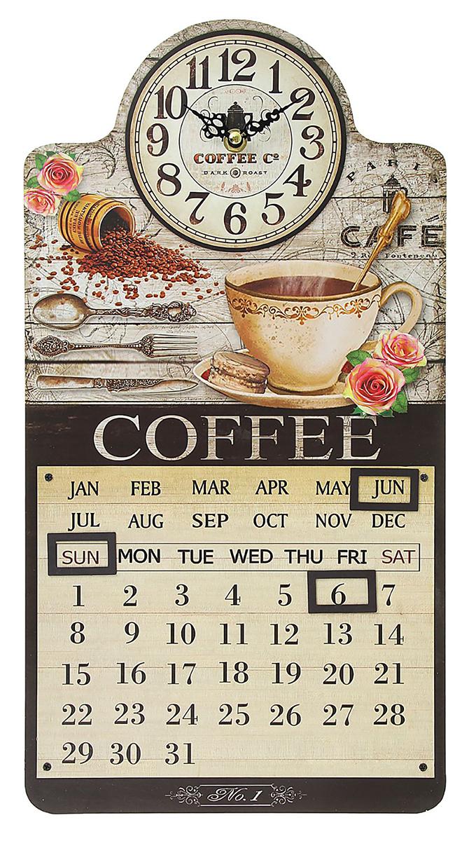 Часы настенные Coffee, с календарем, 25 х 45 см хочу продать свою квартиру которая менее 3х лет и другую какие налоги надо заплатить