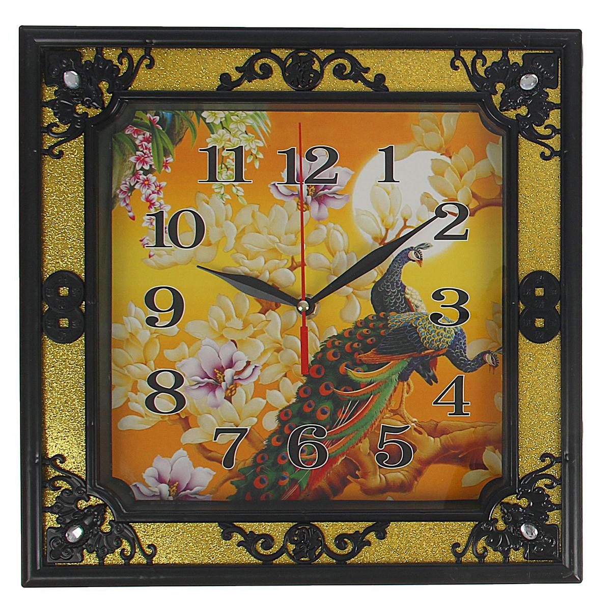 Часы настенные Павлин, 31 х 31 см troyka часы настенные troyka 31 см