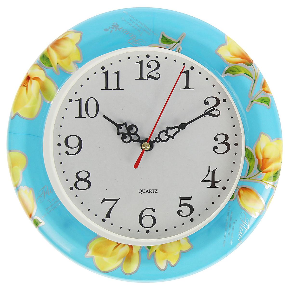 Часы настенные Весеннее настроение. Магнолии в синем небе, диаметр 20 см1737077Каждому хозяину периодически приходит мысль обновить свою квартиру, сделать ремонт, перестановку или кардинально поменять внешний вид каждой комнаты. Часы настенные круглые Магнолии в синем небе, d=20 см — привлекательная деталь, которая поможет воплотить вашу интерьерную идею, создать неповторимую атмосферу в вашем доме. Окружите себя приятными мелочами, пусть они радуют глаз и дарят гармонию.Часы настенные Весеннее настроение, круг Цветы-Магнолии в синем небе, d=20см 1737077