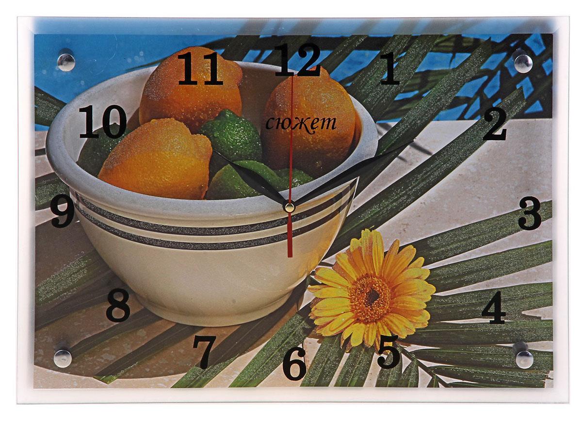 Часы настенные прямоугольные Сюжет Цитрусы, 25 х 35 см184619Каждому хозяину периодически приходит мысль обновить свою квартиру, сделать ремонт, перестановку или кардинально поменять внешний вид каждой комнаты. Часы настенные прямоугольные Цитрусы, 25х35 см — привлекательная деталь, которая поможет воплотить вашу интерьерную идею, создать неповторимую атмосферу в вашем доме. Окружите себя приятными мелочами, пусть они радуют глаз и дарят гармонию. Часы настенные прямоугольные Цитрусы, 25х35 см — сувенир в полном смысле этого слова. И главная его задача — хранить воспоминание о месте, где вы побывали, или о том человеке, который подарил данный предмет. Преподнесите эту вещь своему другу, и она станет достойным украшением его дома.Часы настенные прямоугольные Цитрусы, 25х35 см 184619