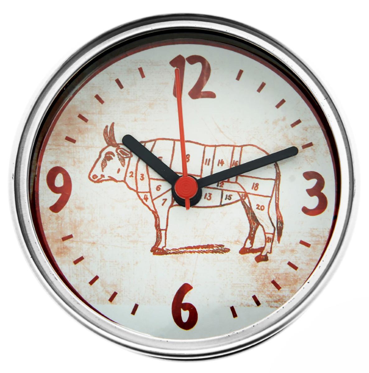 Часы настенные в консервной банке Тушеная времятина, диаметр 9 см186723Как же порой не хватает времени… Удивите своих близких и друзей необычным подарком. Подарите им время в консервах! Это не шутка! Яркие, оригинальные, веселые часы-консервы порадуют кого угодно. Они быстро и легко развлекут своего владельца и как нельзя лучше подойдут ему, ведь такой яркий аксессуар легко впишется в любую обстановку. Широкий ассортимент позволит вам выбрать тот дизайн, который нужен именно вам.Часы в консервной банке Тушеная времятина. диам 9см. 186723