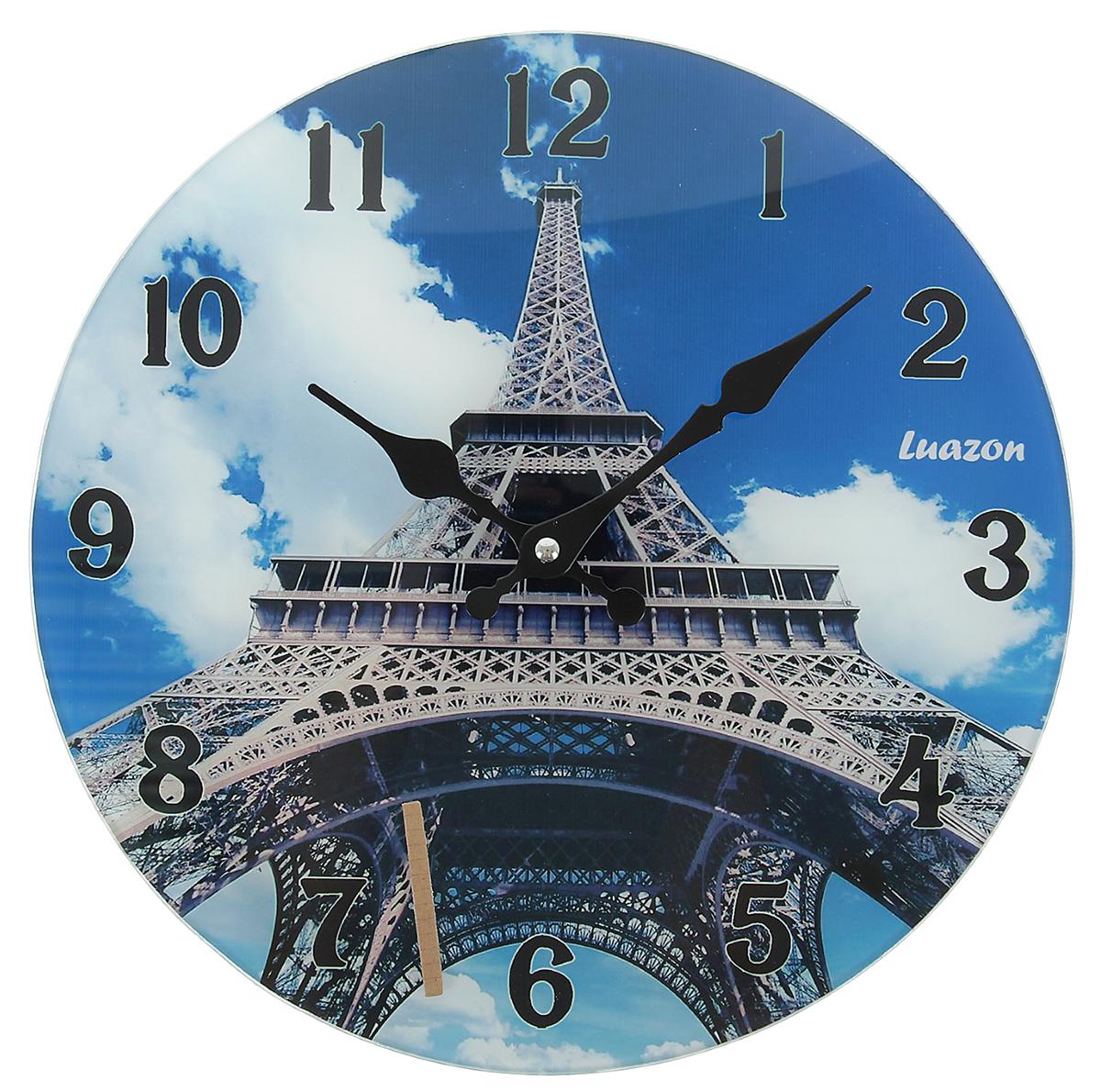 Часы настенные Есения. Эйфелева башня в облаках, диаметр 30 см пазлы magic pazle объемный 3d пазл эйфелева башня 78x38x35 см