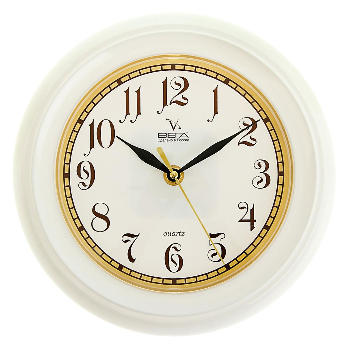 """Часы настенные классические """"Вега"""", белые, цифры узорные — сувенир в полном смысле этого слова. И главная его задача — хранить воспоминание о месте, где вы побывали, или о том человеке, который подарил данный предмет. Преподнесите эту вещь своему другу, и она станет достойным украшением его дома. Каждому хозяину периодически приходит мысль обновить свою квартиру, сделать ремонт, перестановку или кардинально поменять внешний вид каждой комнаты. Часы настенные классические """"Вега"""", белые, цифры узорные — привлекательная деталь, которая поможет воплотить вашу интерьерную идею, создать неповторимую атмосферу в вашем доме. Окружите себя приятными мелочами, пусть они радуют глаз и дарят гармонию.Часы настенные классические, круглые, белые 197158"""