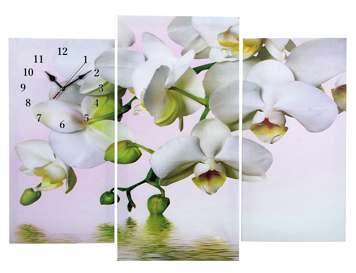 Часы настенные модульные Сюжет Белые орхидеи над водой, 60 х 80 см2045078Каждому хозяину периодически приходит мысль обновить свою квартиру, сделать ремонт, перестановку или кардинально поменять внешний вид каждой комнаты. Часы настенные модульные «Белые орхидеи над водой», 60 ? 80 см — привлекательная деталь, которая поможет воплотить вашу интерьерную идею, создать неповторимую атмосферу в вашем доме. Окружите себя приятными мелочами, пусть они радуют глаз и дарят гармонию. Часы настенные модульные «Белые орхидеи над водой», 60 ? 80 см — сувенир в полном смысле этого слова. И главная его задача — хранить воспоминание о месте, где вы побывали, или о том человеке, который подарил данный предмет. Преподнесите эту вещь своему другу, и она станет достойным украшением его дома.Часы настенные модульные Белые орхидеи над водой, 60х80см микс 2045078