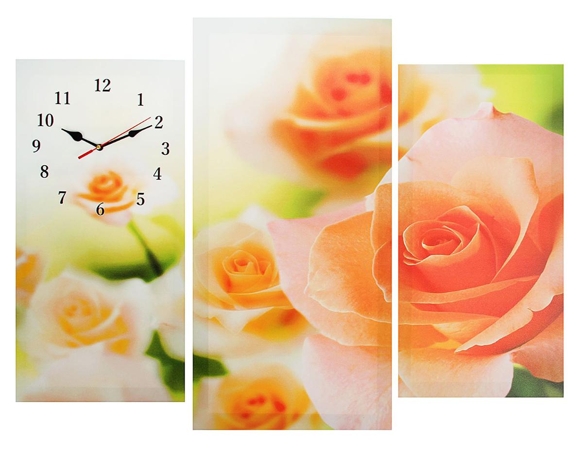 Часы настенные модульные Сюжет Розовые розы, 60 х 80 см. 20450832045083Часы настенные модульные «Розовые розы», 60 ? 80 см — сувенир в полном смысле этого слова. И главная его задача — хранить воспоминание о месте, где вы побывали, или о том человеке, который подарил данный предмет. Преподнесите эту вещь своему другу, и она станет достойным украшением его дома. Каждому хозяину периодически приходит мысль обновить свою квартиру, сделать ремонт, перестановку или кардинально поменять внешний вид каждой комнаты. Часы настенные модульные «Розовые розы», 60 ? 80 см — привлекательная деталь, которая поможет воплотить вашу интерьерную идею, создать неповторимую атмосферу в вашем доме. Окружите себя приятными мелочами, пусть они радуют глаз и дарят гармонию.Часы настенные модульные Розовые розы, 60х80см 2045083