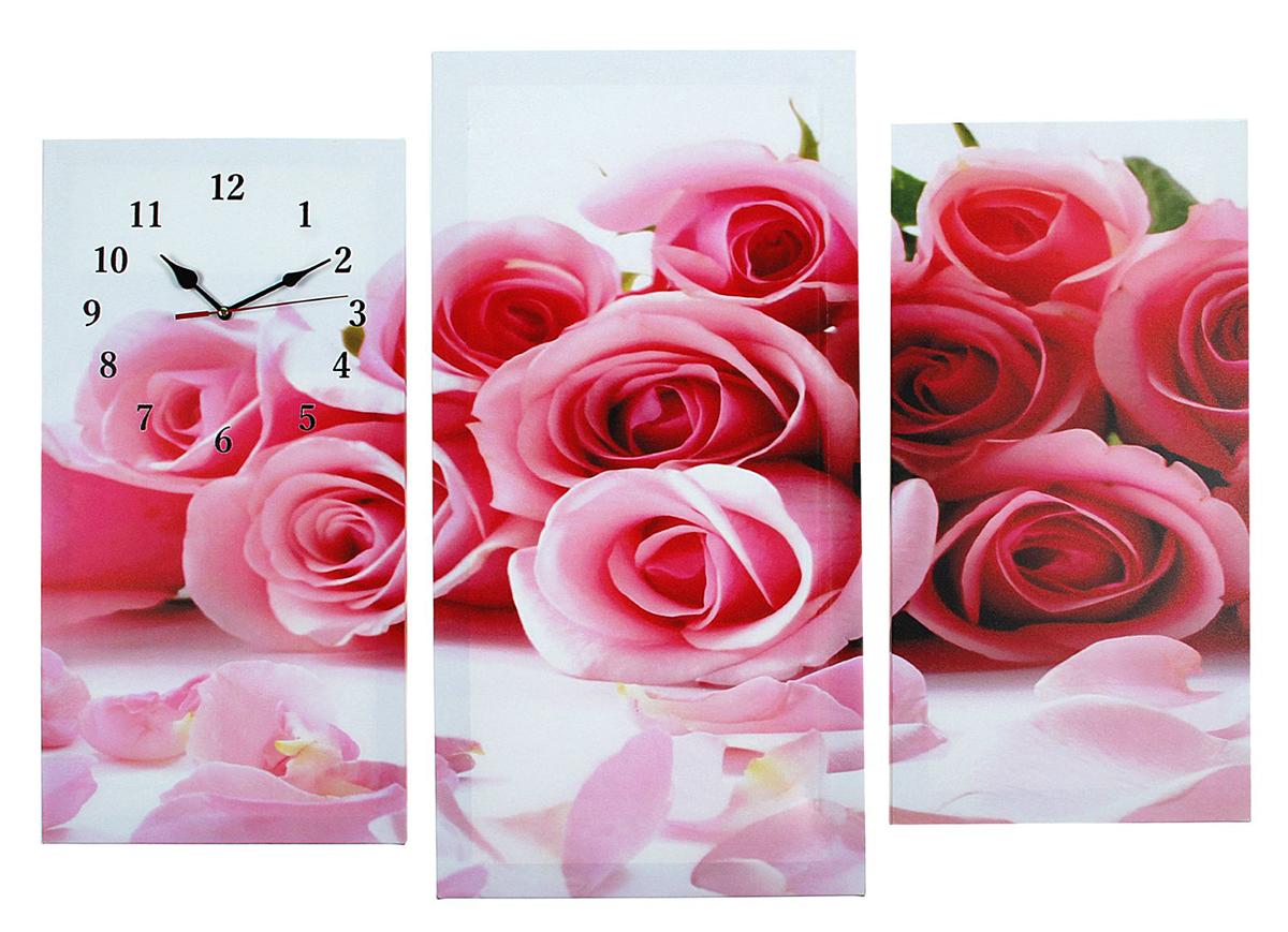 Часы настенные модульные Сюжет Розовые розы, 60 х 80 см2045096Часы настенные модульные «Розовые розы», 60 ? 80 см — сувенир в полном смысле этого слова. И главная его задача — хранить воспоминание о месте, где вы побывали, или о том человеке, который подарил данный предмет. Преподнесите эту вещь своему другу, и она станет достойным украшением его дома. Каждому хозяину периодически приходит мысль обновить свою квартиру, сделать ремонт, перестановку или кардинально поменять внешний вид каждой комнаты. Часы настенные модульные «Розовые розы», 60 ? 80 см — привлекательная деталь, которая поможет воплотить вашу интерьерную идею, создать неповторимую атмосферу в вашем доме. Окружите себя приятными мелочами, пусть они радуют глаз и дарят гармонию.Часы настенные модульные Розовые розы, 60х80см микс 2045096