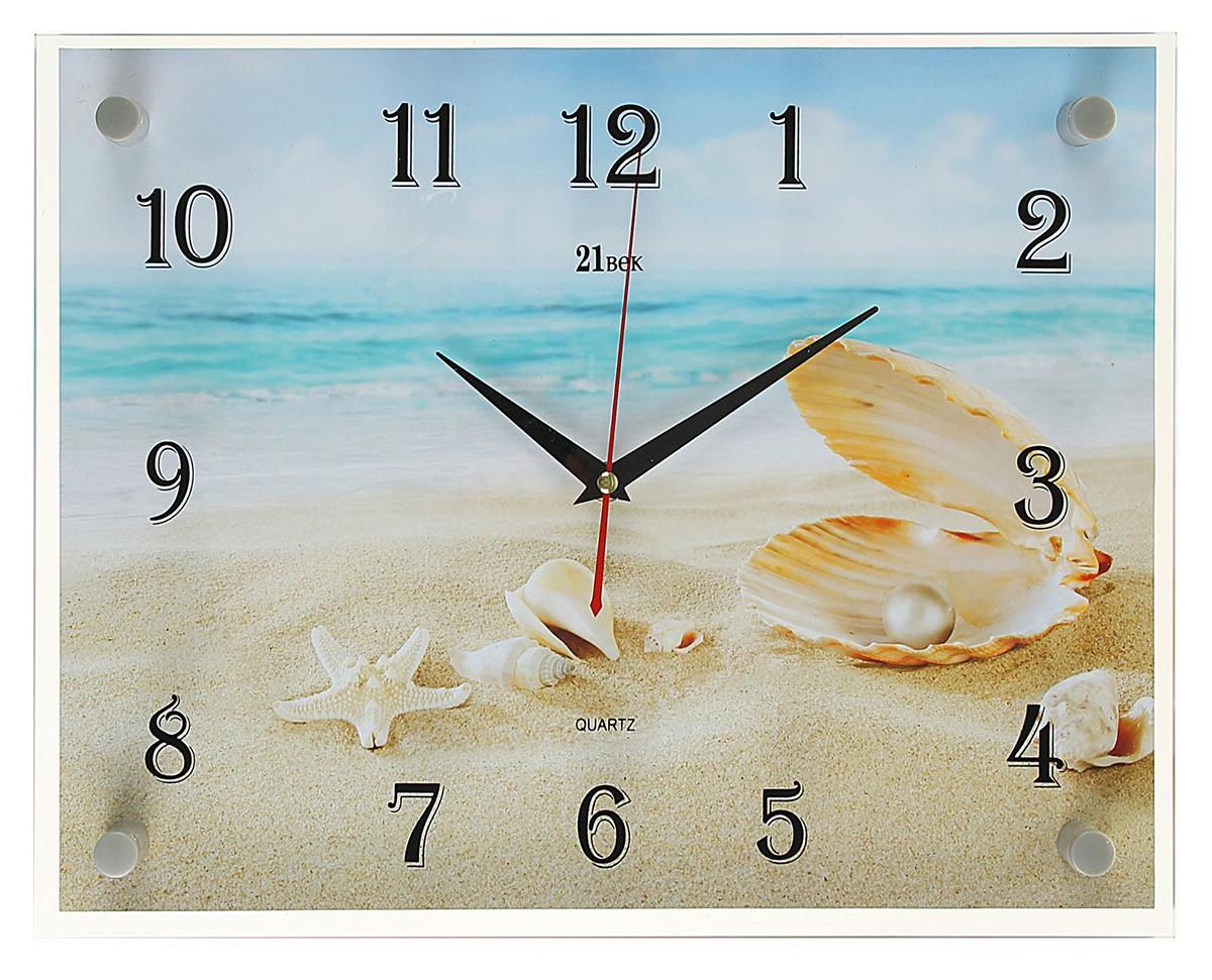 Часы настенные прямоугольные 21 Век Ракушки на песке, 30 х 40 см2268023— сувенир в полном смысле этого слова. И главная его задача — хранить воспоминание о месте, где вы побывали, или о том человеке, который подарил данный предмет. Преподнесите эту вещь своему другу, и она станет достойным украшением его дома. Каждому хозяину периодически приходит мысль обновить свою квартиру, сделать ремонт, перестановку или кардинально поменять внешний вид каждой комнаты. — привлекательная деталь, которая поможет воплотить вашу интерьерную идею, создать неповторимую атмосферу в вашем доме. Окружите себя приятными мелочами, пусть они радуют глаз и дарят гармонию.Часы настенные прямоугольные Ракушки на песке, 30х40 см 2268023