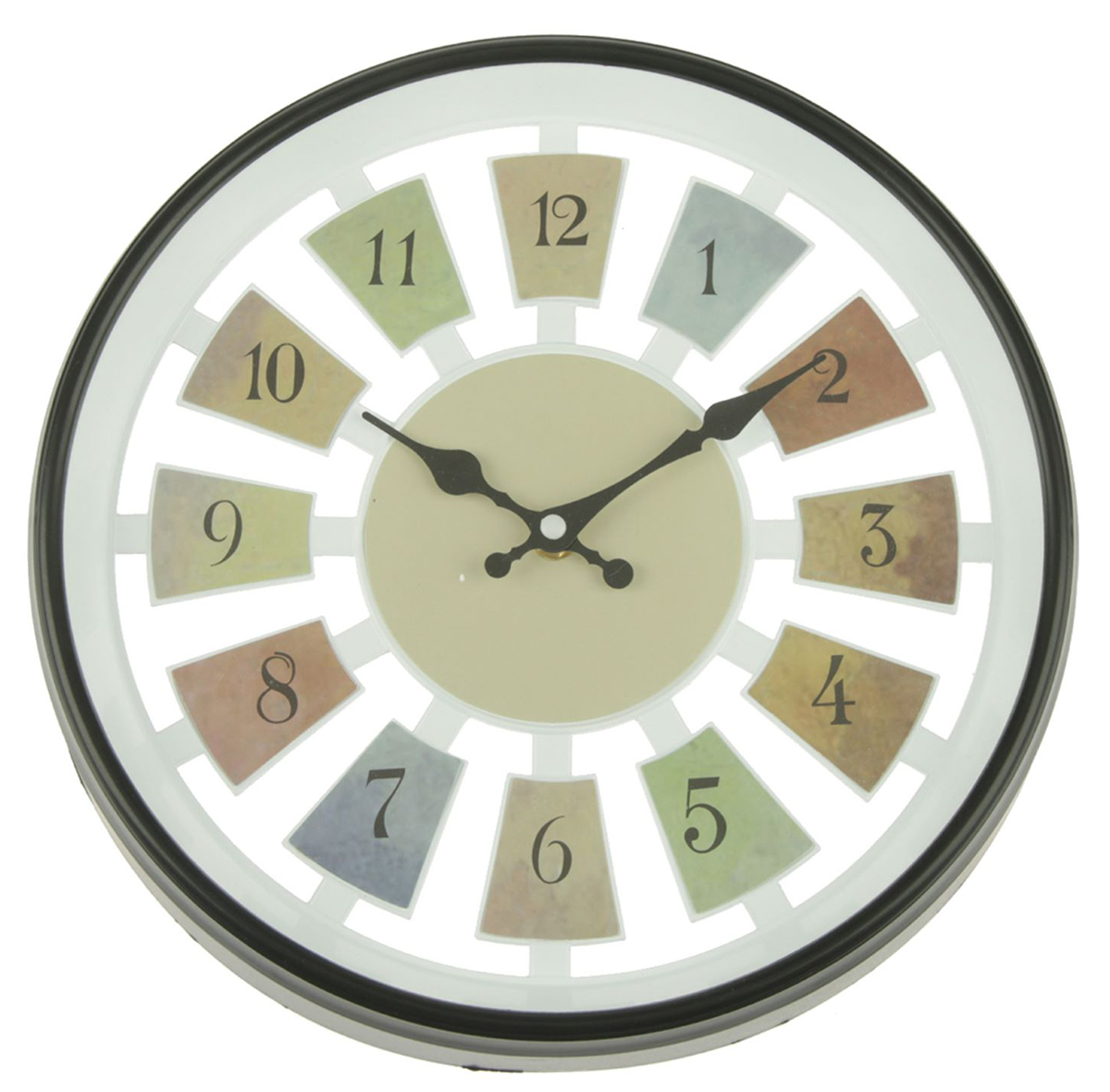 Часы настенные Цифры, цвет: черный, разноцветный, диаметр 30 см2307003Каждому хозяину периодически приходит мысль обновить свою квартиру, сделать ремонт, перестановку или кардинально поменять внешний вид каждой комнаты. — привлекательная деталь, которая поможет воплотить вашу интерьерную идею, создать неповторимую атмосферу в вашем доме. Окружите себя приятными мелочами, пусть они радуют глаз и дарят гармонию.Часы настенные серия Цифры, круг, цифры по кайме, рама черная, цифры цветные d=30см, 30*5см 230700
