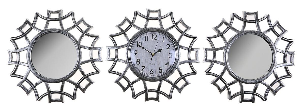 Часы настенные Лепнина, с 2 зеркалами, 80 х 25 см 2 х комнатную квартиру в макеевке украина