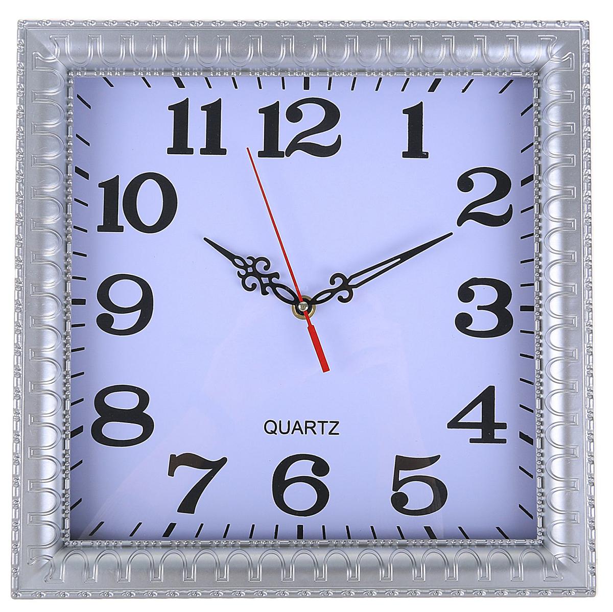 Часы настенные, цвет: серебристый, 32 х 32 см2334881Каждому хозяину периодически приходит мысль обновить свою квартиру, сделать ремонт, перестановку или кардинально поменять внешний вид каждой комнаты. — привлекательная деталь, которая поможет воплотить вашу интерьерную идею, создать неповторимую атмосферу в вашем доме. Окружите себя приятными мелочами, пусть они радуют глаз и дарят гармонию.Часы настенные классика, ребристый обод, серебр, квадрат, 32*3см 2334881