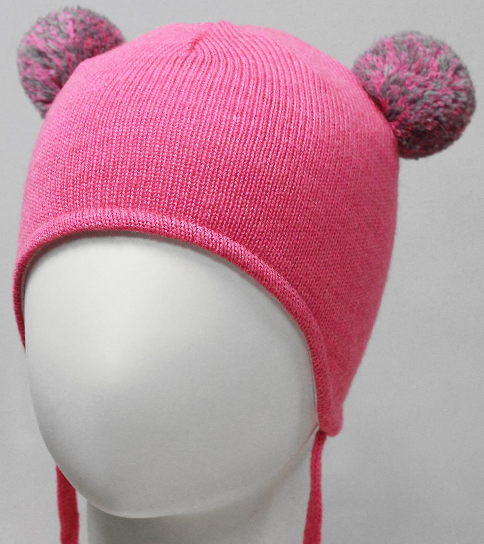 Шапка для девочки Marhatter, цвет: розовый. MDU7379/5. Размер 44/46MDU7379/5Полушерстяная ушанка для девочки на завязках. Модель на хлопковой подкладке. Дополнена двумя помпонами из пряжи. Уважаемые клиенты!Размер, доступный для заказа, является обхватом головы.