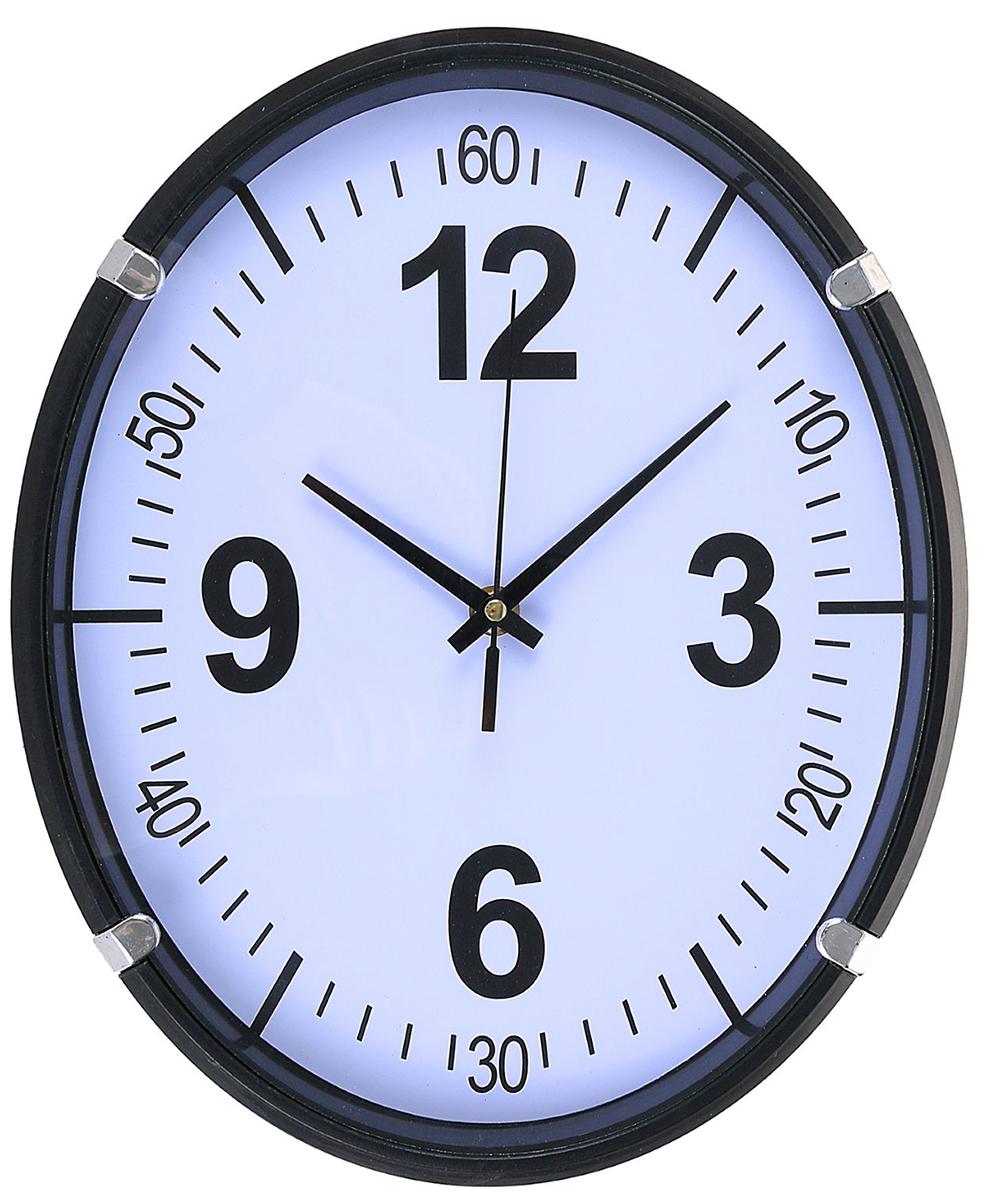 Часы настенные Скорость, 32 х 26 см2334903Каждому хозяину периодически приходит мысль обновить свою квартиру, сделать ремонт, перестановку или кардинально поменять внешний вид каждой комнаты. — привлекательная деталь, которая поможет воплотить вашу интерьерную идею, создать неповторимую атмосферу в вашем доме. Окружите себя приятными мелочами, пусть они радуют глаз и дарят гармонию.Часы настенные классика Скорость, чёрный, овал, 32*26*3см 2334903