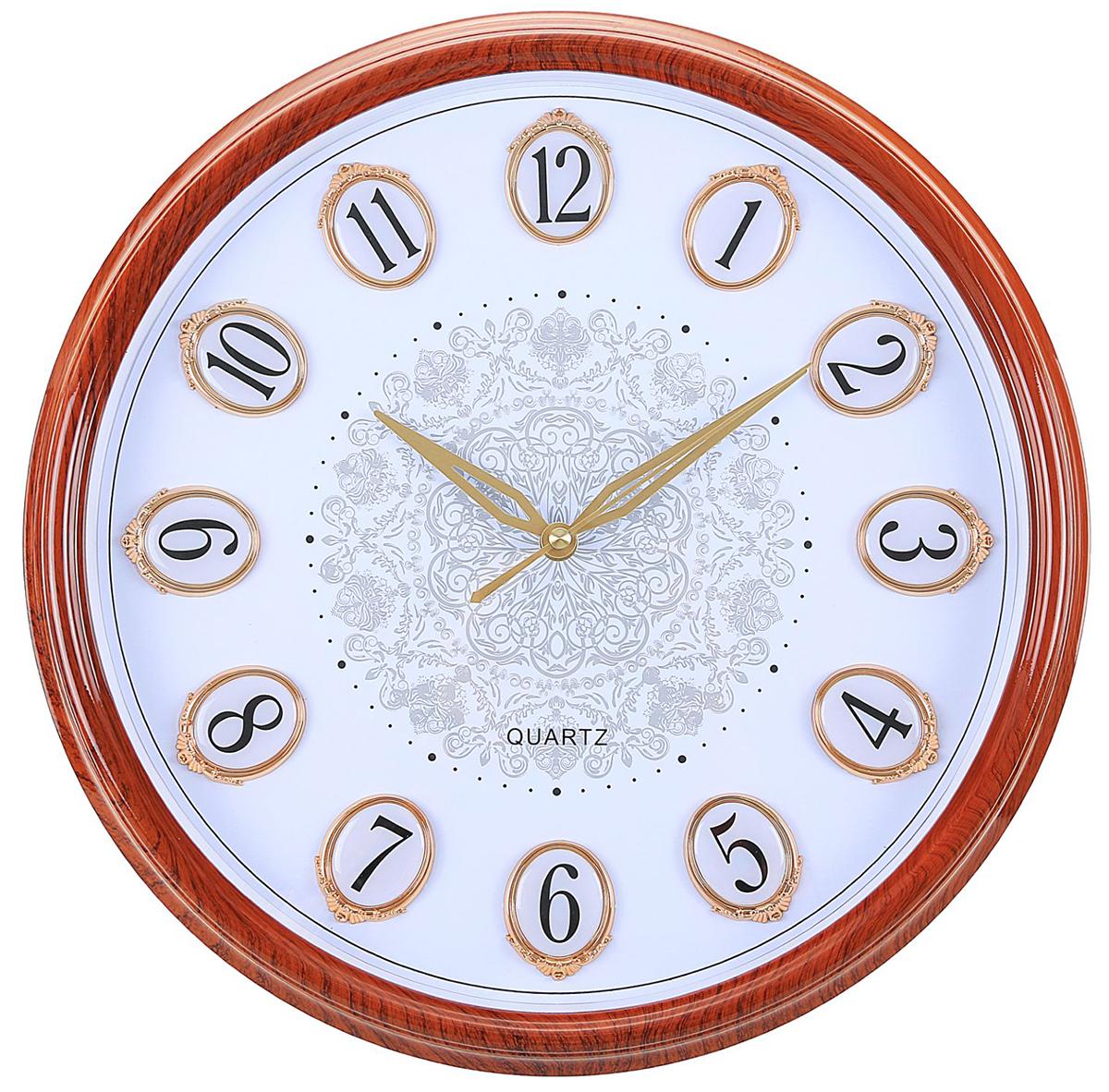 Часы настенные интерьерные Кружева, цвет: белый, дерево, 37 см2342160Каждому хозяину периодически приходит мысль обновить свою квартиру, сделать ремонт, перестановку или кардинально поменять внешний вид каждой комнаты. — привлекательная деталь, которая поможет воплотить вашу интерьерную идею, создать неповторимую атмосферу в вашем доме. Окружите себя приятными мелочами, пусть они радуют глаз и дарят гармонию.Часы настенные интерьерные Кружева, белый цифербл, обод под дерево, 37*6 см 2342160