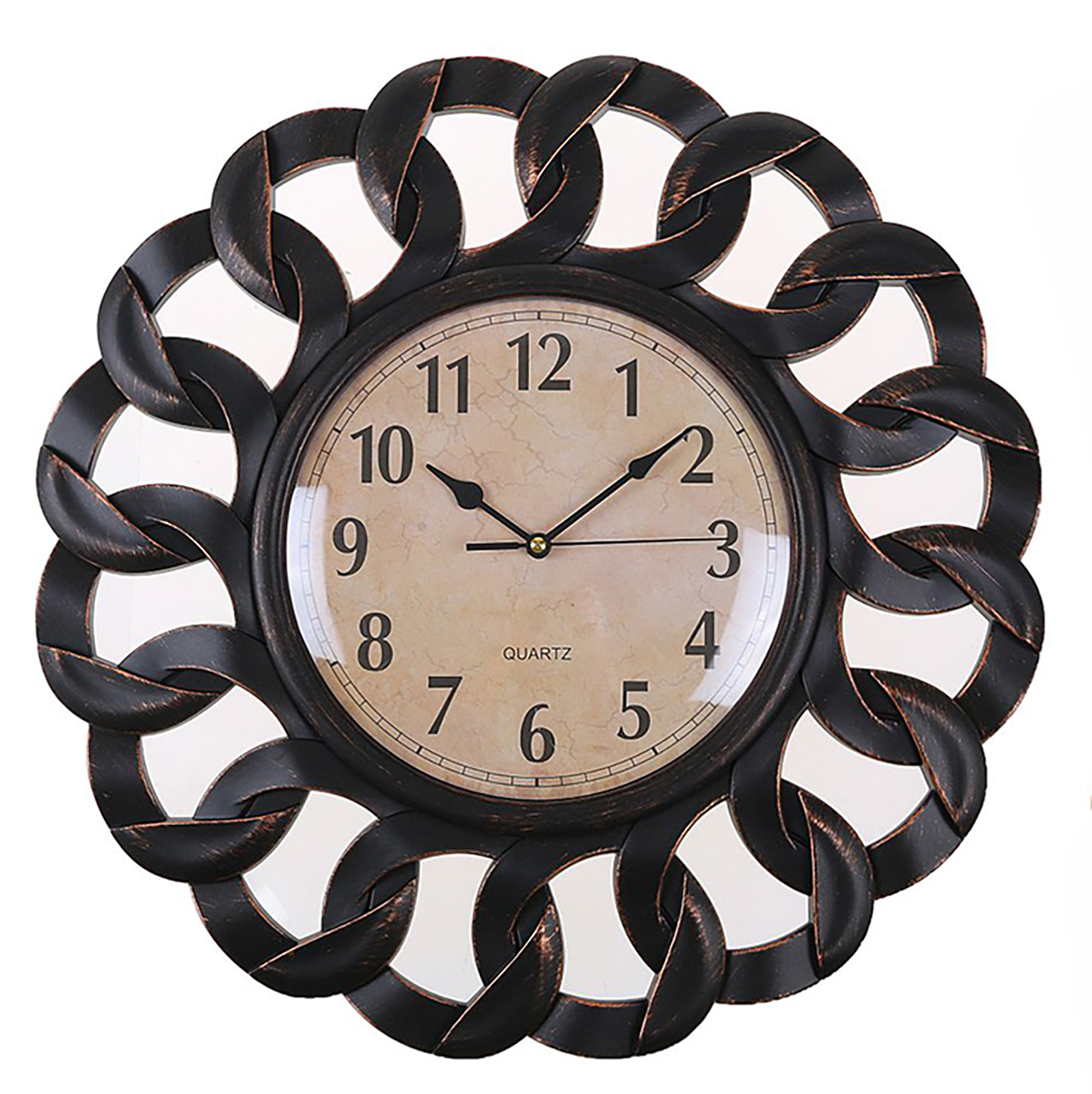Часы настенные Лепнина, с 2 зеркалами, 40 х 40 см 2 х комнатную квартиру в макеевке украина