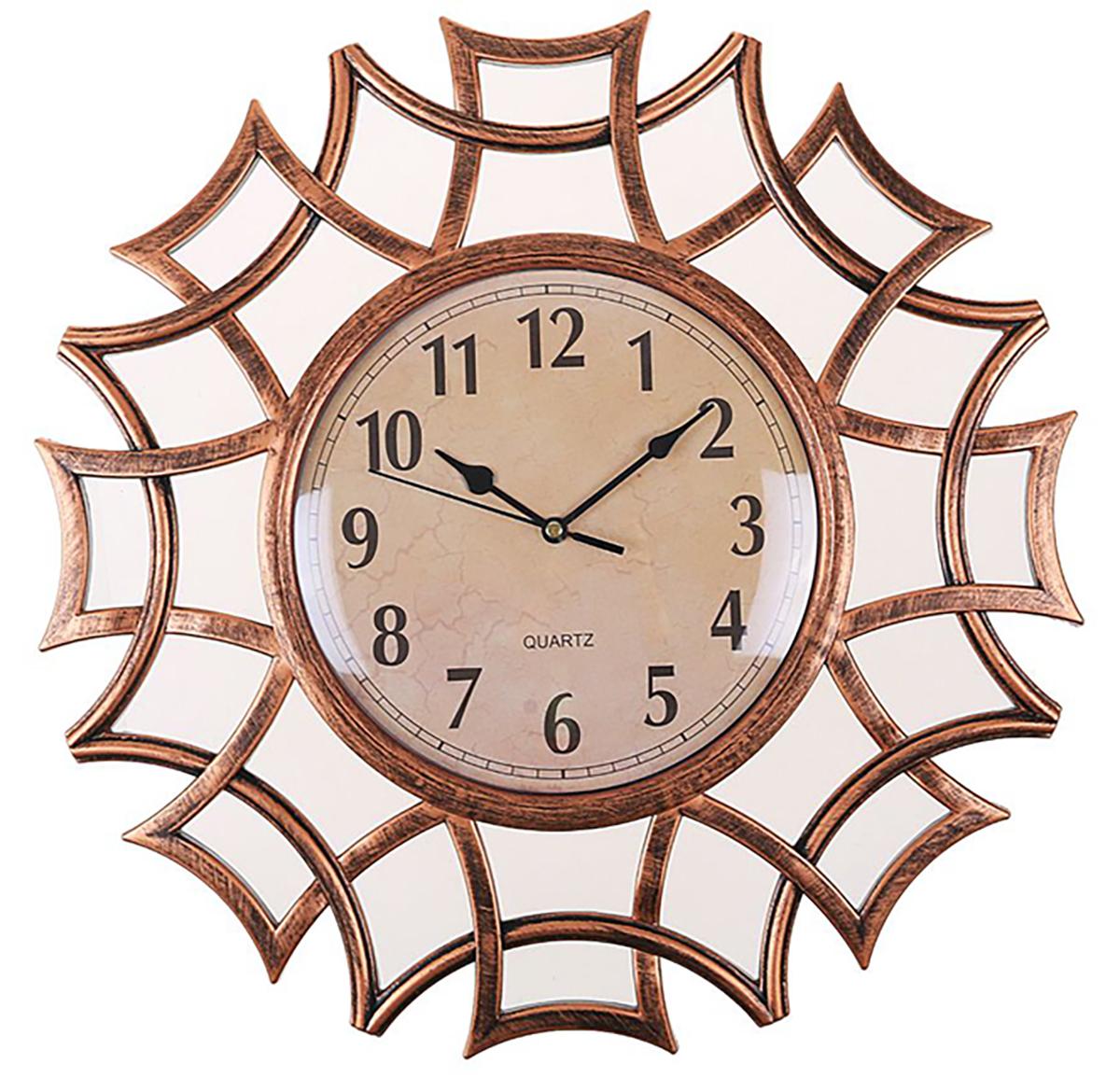Часы настенные Лепнина, с 2 зеркалами, цвет: бронза, 40 х 40 см2354181Каждому хозяину периодически приходит мысль обновить свою квартиру, сделать ремонт, перестановку или кардинально поменять внешний вид каждой комнаты. — привлекательная деталь, которая поможет воплотить вашу интерьерную идею, создать неповторимую атмосферу в вашем доме. Окружите себя приятными мелочами, пусть они радуют глаз и дарят гармонию.Часы настенные Лепнина 2 зеркала,бронза, ветви 40*3*40 см 2354181
