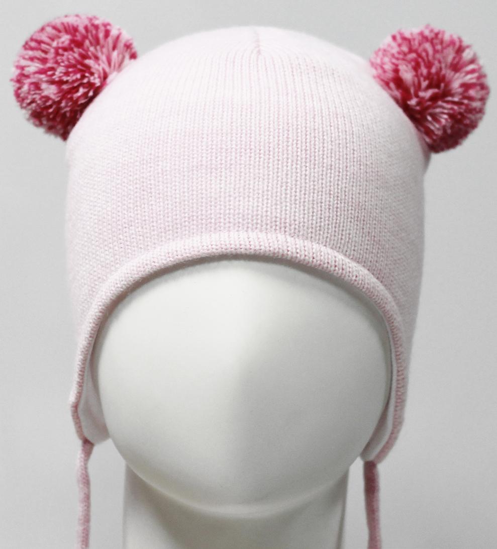 Шапка для девочки Marhatter, цвет: светло-розовый. MDU7379/5. Размер 44/46MDU7379/5Полушерстяная ушанка для девочки на завязках. Модель на хлопковой подкладке. Дополнена двумя помпонами из пряжи. Уважаемые клиенты!Размер, доступный для заказа, является обхватом головы.