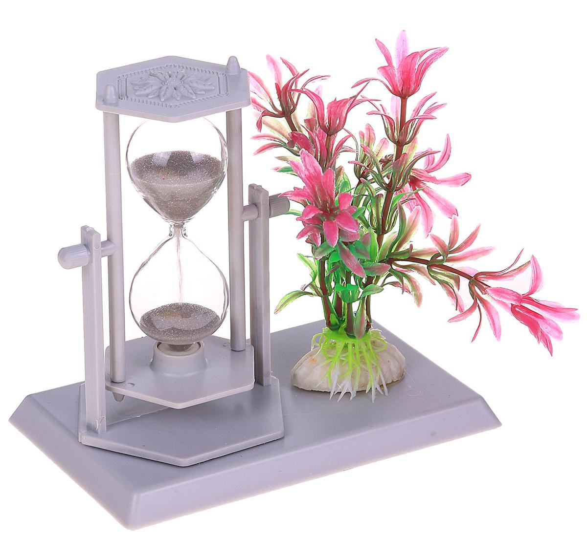 Песочные часы Цветы , цвет: серый, 14 х 13 х 9 см2355527Каждому хозяину периодически приходит мысль обновить свою квартиру, сделать ремонт, перестановку или кардинально поменять внешний вид каждой комнаты. — привлекательная деталь, которая поможет воплотить вашу интерьерную идею, создать неповторимую атмосферу в вашем доме. Окружите себя приятными мелочами, пусть они радуют глаз и дарят гармонию.Часы песочные, серия Цветы, серые, 14*13*9см 2355527