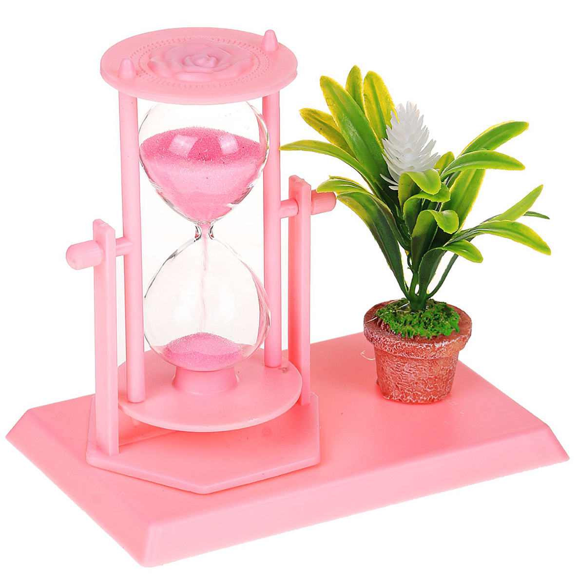 Песочные часы Цветы, цвет: розовый, 14 х 13 х 9 см2355536Каждому хозяину периодически приходит мысль обновить свою квартиру, сделать ремонт, перестановку или кардинально поменять внешний вид каждой комнаты. — привлекательная деталь, которая поможет воплотить вашу интерьерную идею, создать неповторимую атмосферу в вашем доме. Окружите себя приятными мелочами, пусть они радуют глаз и дарят гармонию.Часы песочные, серия Цветы, розовые, 14*13*9см 2355536