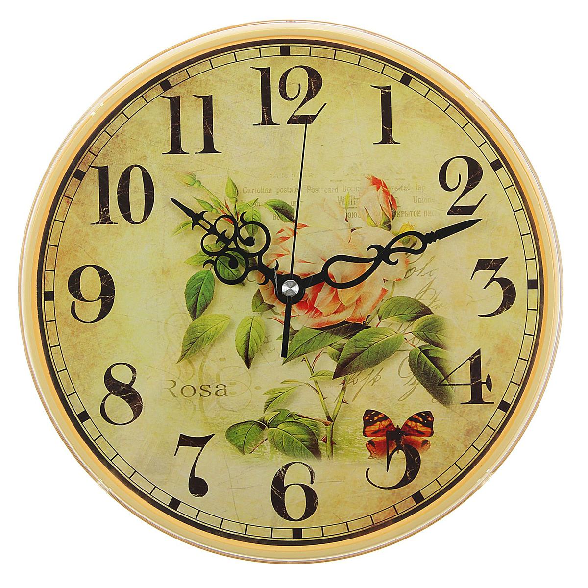 Часы настенные Рубин Роза и бабочки, диаметр 25 см2362186— сувенир в полном смысле этого слова. И главная его задача — хранить воспоминание о месте, где вы побывали, или о том человеке, который подарил данный предмет. Преподнесите эту вещь своему другу, и она станет достойным украшением его дома. Каждому хозяину периодически приходит мысль обновить свою квартиру, сделать ремонт, перестановку или кардинально поменять внешний вид каждой комнаты. — привлекательная деталь, которая поможет воплотить вашу интерьерную идею, создать неповторимую атмосферу в вашем доме. Окружите себя приятными мелочами, пусть они радуют глаз и дарят гармонию.Часы настенные круглые Роза и бабочки, 25 см 2362186