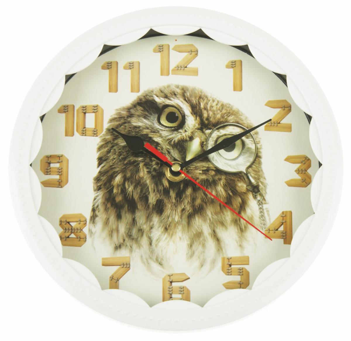Часы настенные Сова с моноклем, 22 х 21,5 см хочу продать свою квартиру которая менее 3х лет и другую какие налоги надо заплатить
