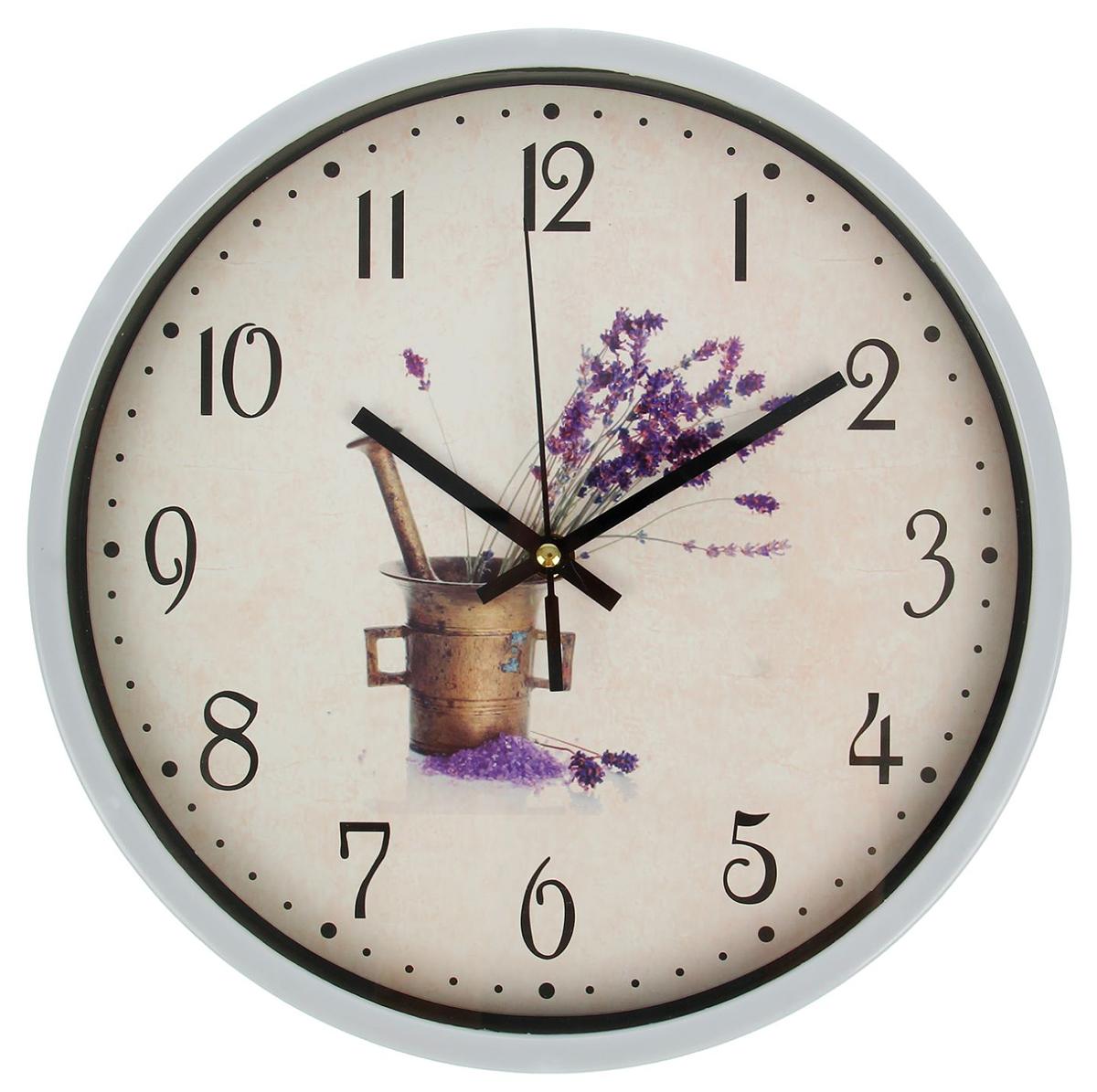 Часы настенные Цветы в ведерке, диаметр 30 см2364708Каждому хозяину периодически приходит мысль обновить свою квартиру, сделать ремонт, перестановку или кардинально поменять внешний вид каждой комнаты. — привлекательная деталь, которая поможет воплотить вашу интерьерную идею, создать неповторимую атмосферу в вашем доме. Окружите себя приятными мелочами, пусть они радуют глаз и дарят гармонию.Часы настенные круг, рама пласт белая, на циферблате цветы в ведёрке,30см 2364708
