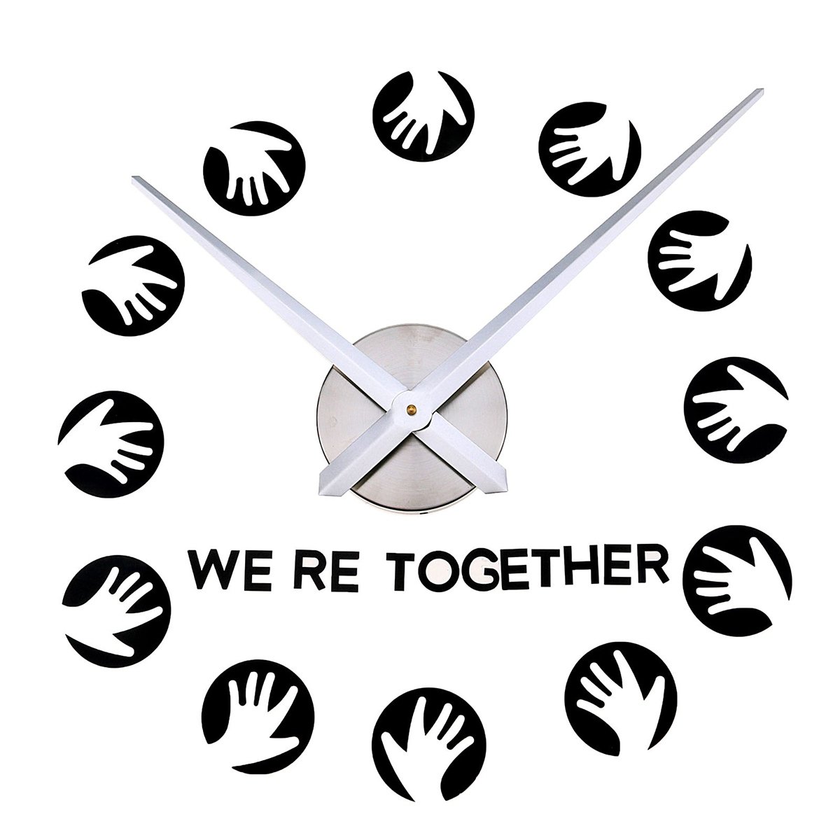 Часы-наклейка настенные DIY Ладошки, 90 см2366729Каждому хозяину периодически приходит мысль обновить свою квартиру, сделать ремонт, перестановку или кардинально поменять внешний вид каждой комнаты. Часы-наклейка DIY Ладошки, 90см — привлекательная деталь, которая поможет воплотить вашу интерьерную идею, создать неповторимую атмосферу в вашем доме. Окружите себя приятными мелочами, пусть они радуют глаз и дарят гармонию.Часы-наклейка DIY Ладошки, 90см 2366729