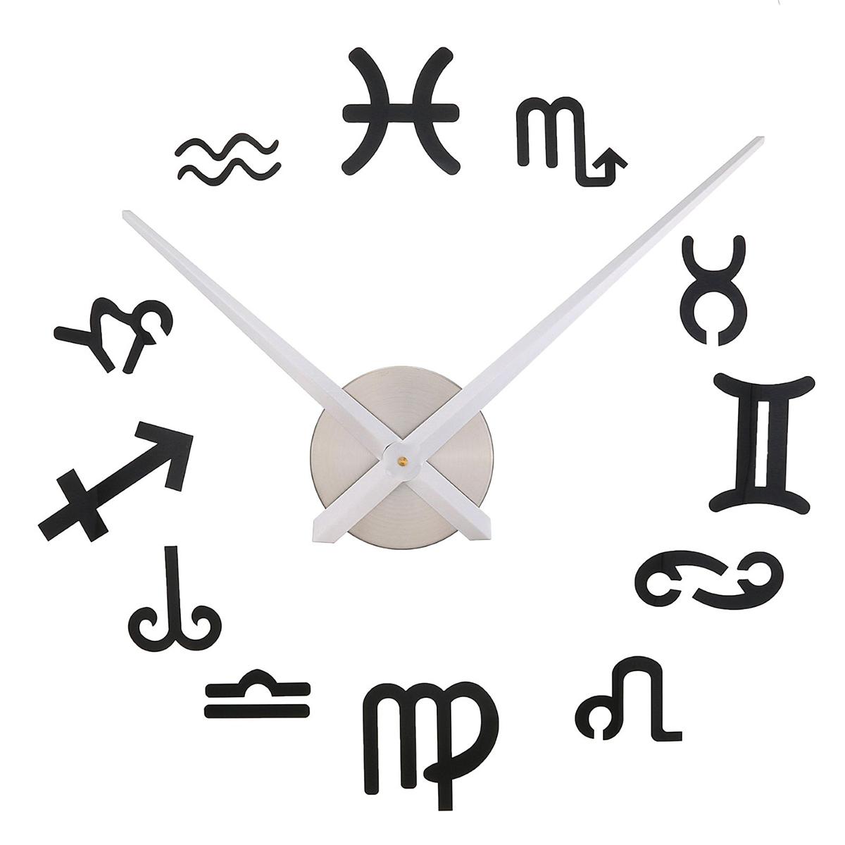 Часы-наклейка настенные DIY Знаки Зодиака, 120 см лонгслив printio знаки зодиака рыбы