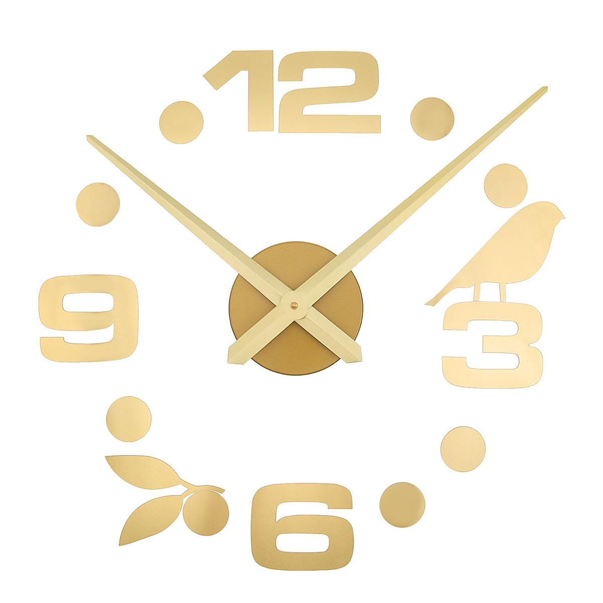 Часы-наклейка настенные DIY