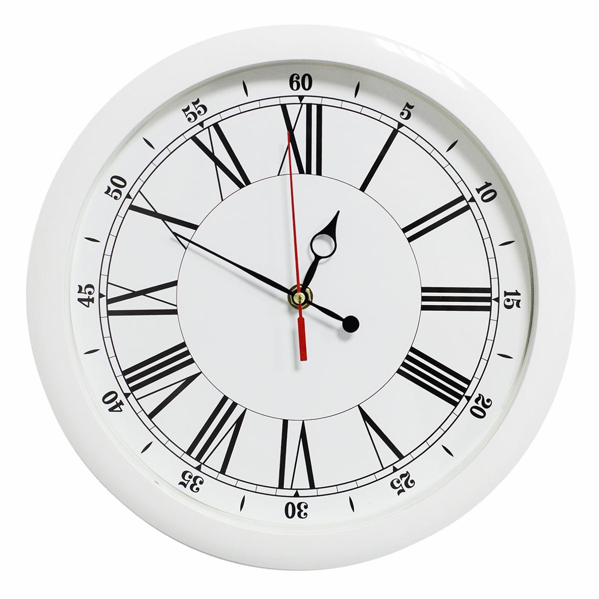 Часы настенные Классика, цвет: белый счетчики тепла в квартиру