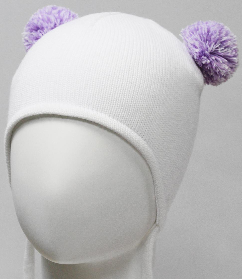 Шапка для девочки Marhatter, цвет: белый. MDU7379/5. Размер 44/46MDU7379/5Полушерстяная ушанка для девочки на завязках. Модель на хлопковой подкладке. Дополнена двумя помпонами из пряжи. Уважаемые клиенты!Размер, доступный для заказа, является обхватом головы.